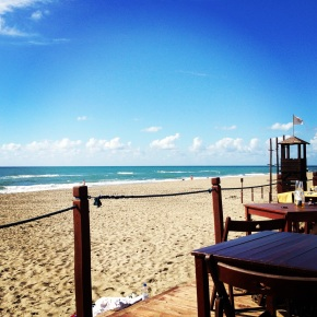 Eat on the beach #Mediterraneo Restaurant